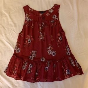 American Eagle floral sleeveless blouse, size S